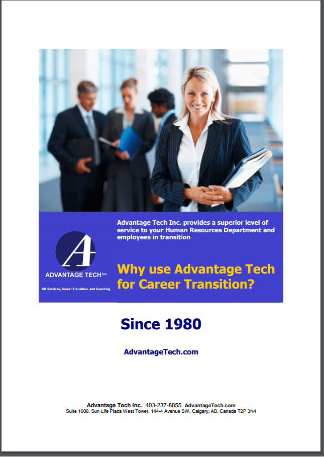 Why Use Advantage Tech for Career Transition? - CLICK to download brochure