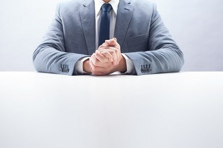 Businessman Rubbing Hands